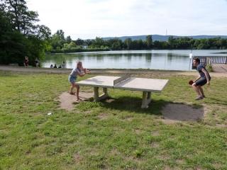 Tischtennis Judith und Bernhard