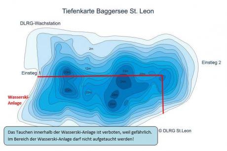 St. Leoner See Tiefenprofil