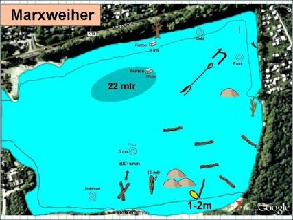 Gewässerkarte-Marxweiher